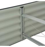 vidaXL Plantenbak 320x80x44 cm gegalvaniseerd staal grijs