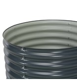 vidaXL Plantenbak 80x80x81 cm gegalvaniseerd staal grijs