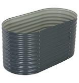 vidaXL Plantenbak 160x80x81 cm gegalvaniseerd staal grijs
