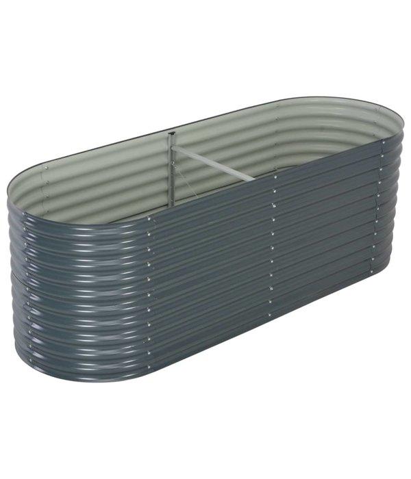 vidaXL Plantenbak 240x80x81 cm gegalvaniseerd staal grijs