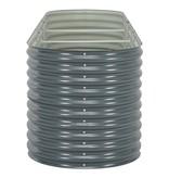 vidaXL Plantenbak 320x80x81 cm gegalvaniseerd staal grijs