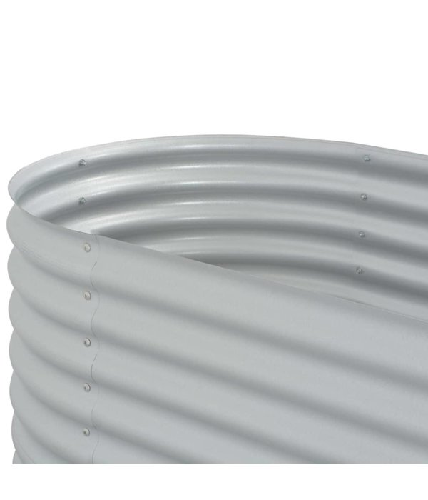 vidaXL Plantenbak 160x80x44 cm gegalvaniseerd staal zilver