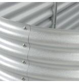 vidaXL Plantenbak 240x80x44 cm gegalvaniseerd staal zilver