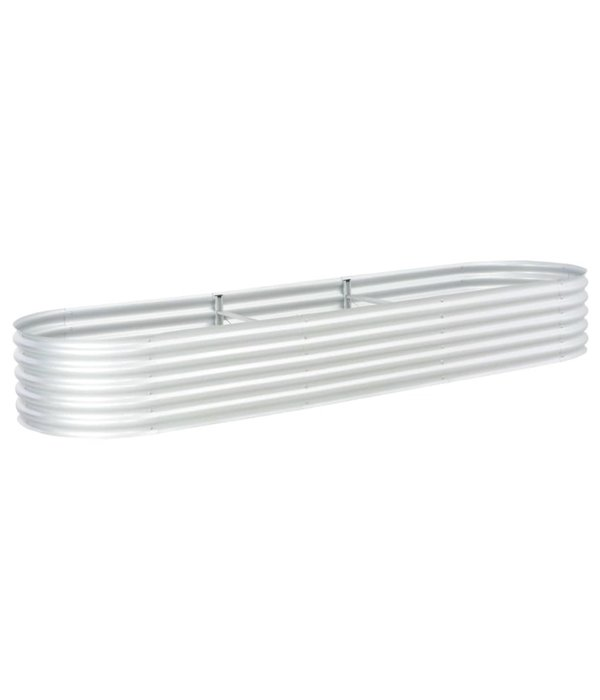 vidaXL Plantenbak 320x80x44 cm gegalvaniseerd staal zilver