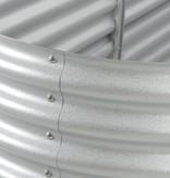 vidaXL Plantenbak 400x80x44 cm gegalvaniseerd staal zilver