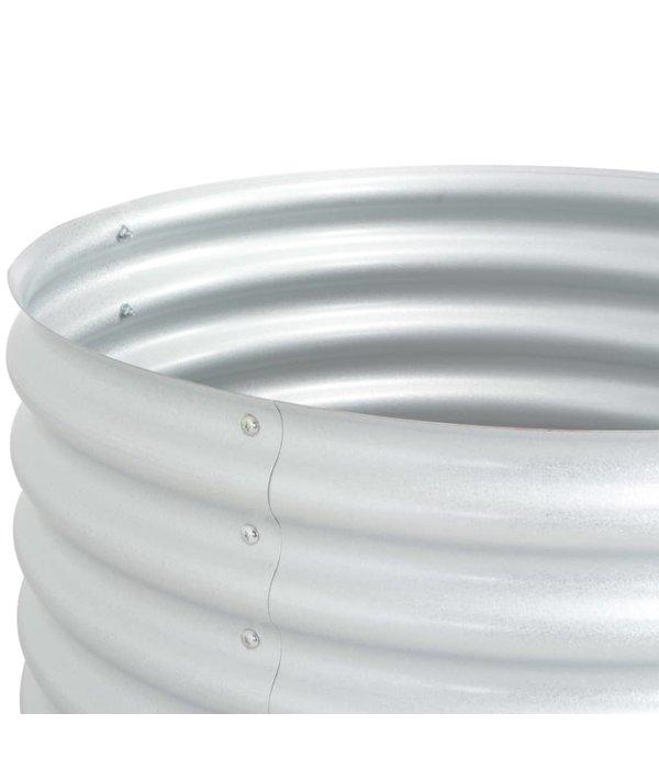 vidaXL Plantenbak 80x80x81 cm gegalvaniseerd staal zilver