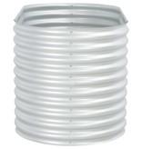 vidaXL Plantenbak 160x80x81 cm gegalvaniseerd staal zilver