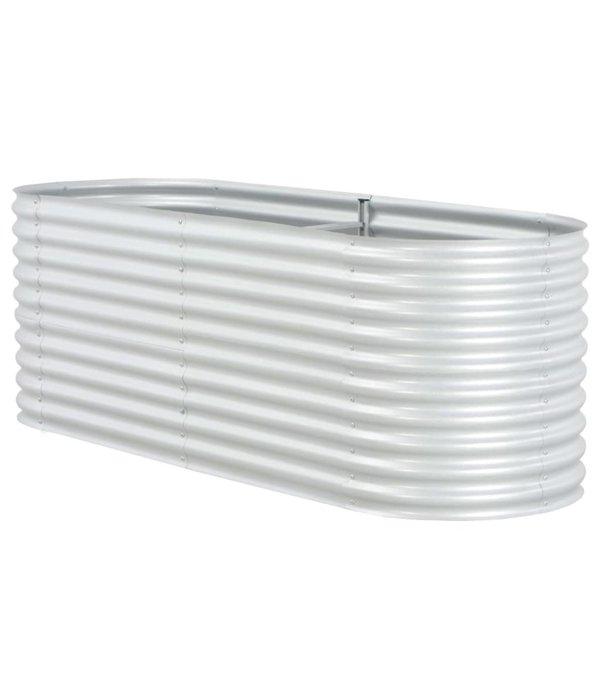 vidaXL Plantenbak 240x80x81 cm gegalvaniseerd staal zilver