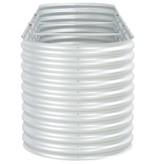 vidaXL Plantenbak 320x80x81 cm gegalvaniseerd staal zilver
