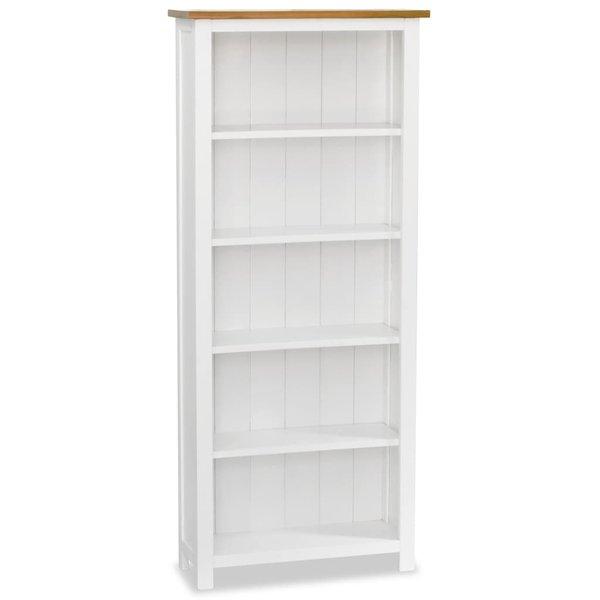 Boekenkast 5 planken 60x22,5x140 cm massief eikenhout