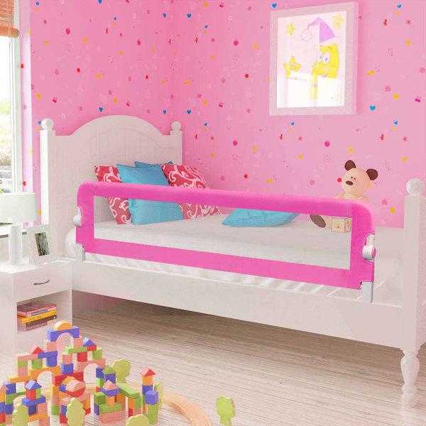 Kinderbedhekjes 2 st 150x42 cm roze
