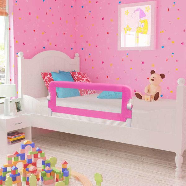 Kinderbedhekjes 2 st 102x42 cm roze
