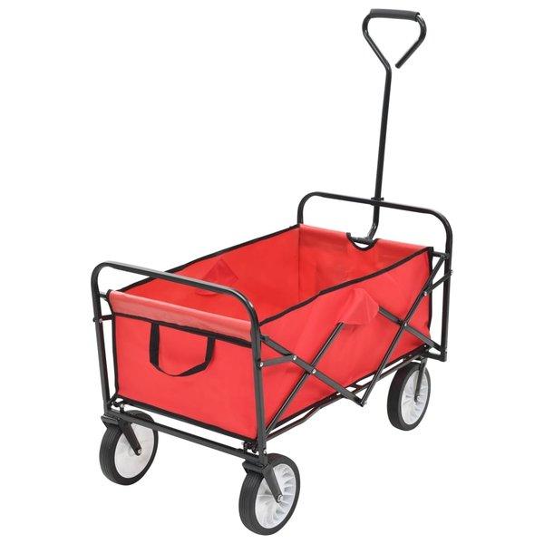 Handkar inklapbaar staal rood