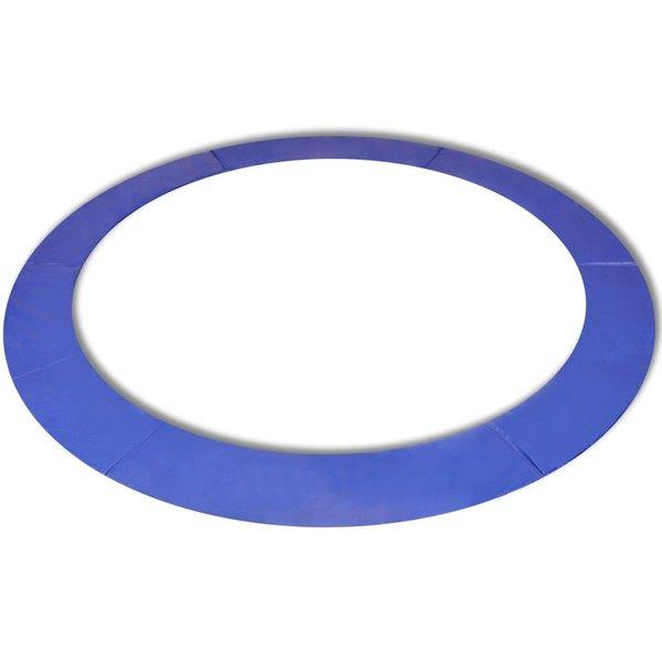 Veiligheidsmat voor 3,96m ronde trampoline PE blauw