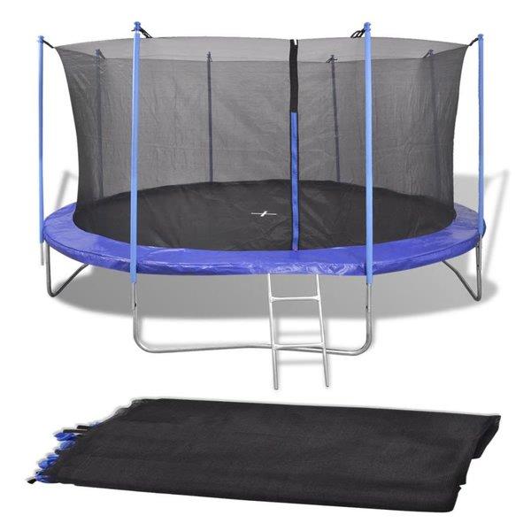 Veiligheidsnet voor 4,26 m ronde trampoline PE zwart