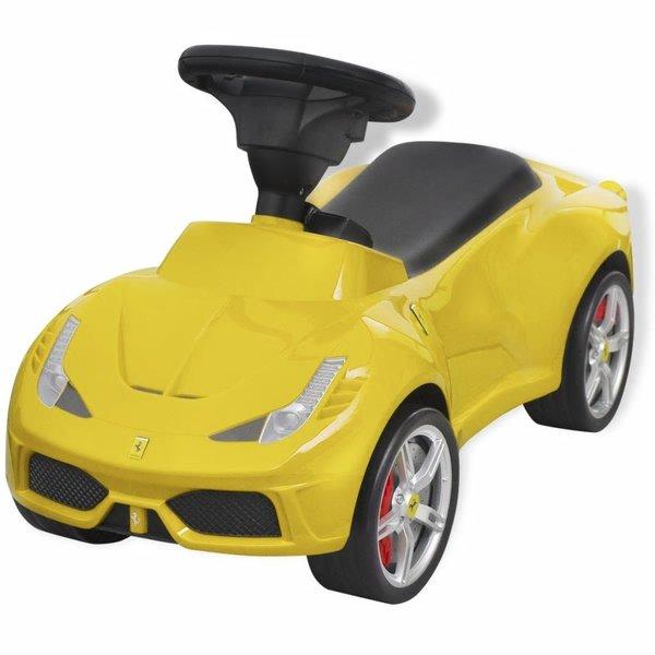 Loopauto Ferrari 458 geel