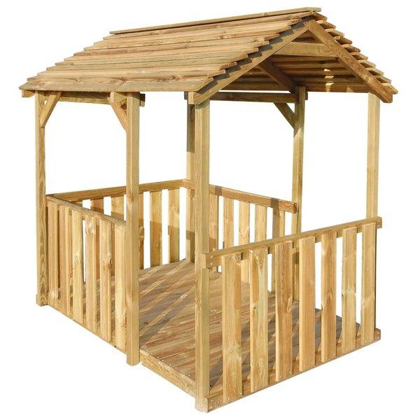Buitenspeelhuis 122,5x160x163 cm FSC grenenhout