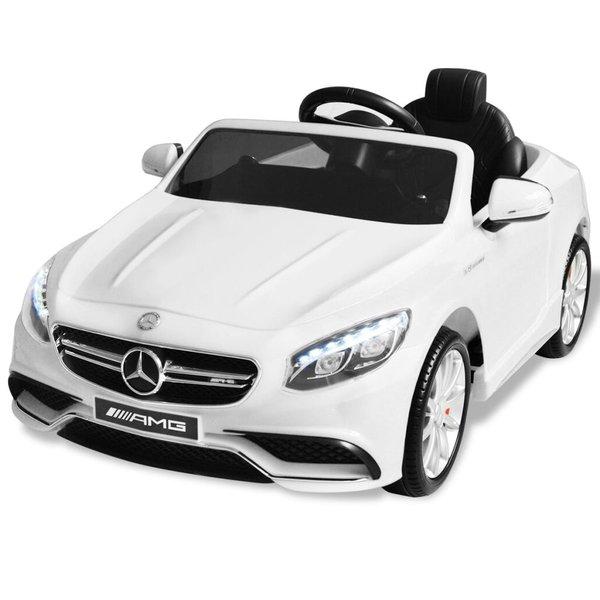 Elektrische speelgoedauto Mercedes Benz AMG S63 12 V wit