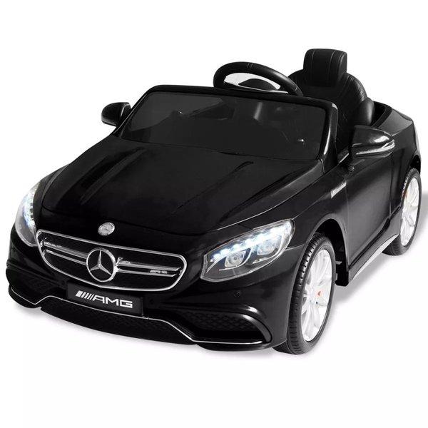 Elektrische speelgoedauto Mercedes Benz AMG S63 12 V zwart