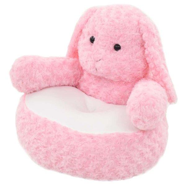 Knuffel konijn pluche roze