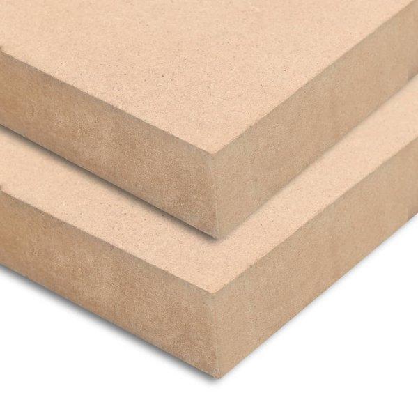MDF platen rechthoekig 120x60 cm 25 mm 2 st