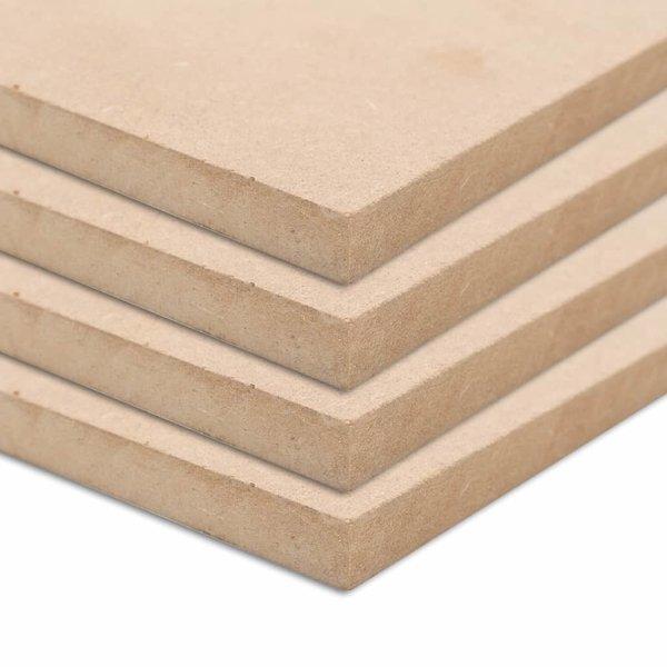 MDF platen vierkant 60x60 cm 25 mm 4 st