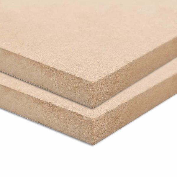 MDF platen rechthoekig 120x60 cm 12 mm 2 st