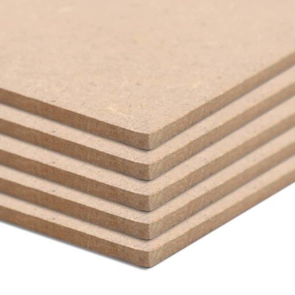 MDF platen rechthoekig 120x60 cm 2,5 mm 5 st