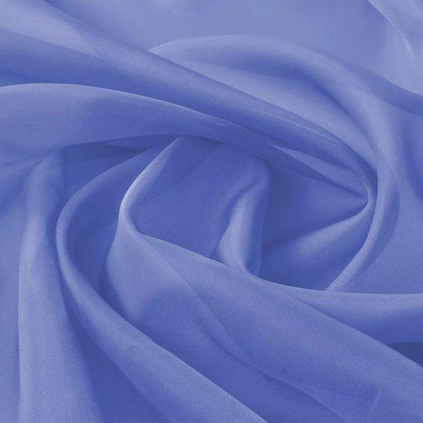 Stof voile 1,45x20 m koningsblauw