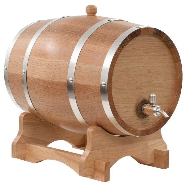 Wijnvat met kraantje 12 L massief eikenhout