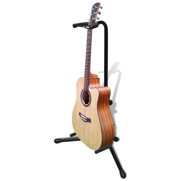 Verstelbare enkelvoudige gitaarstandaard