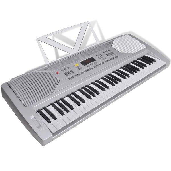 Elektrisch keyboard met 61 toetsen en bladmuziek houder