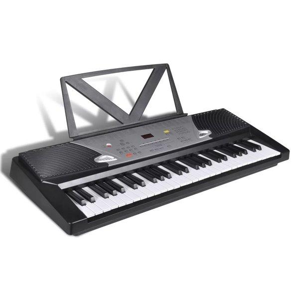 Elektrisch keyboard met 54 toetsen en bladmuziek houder