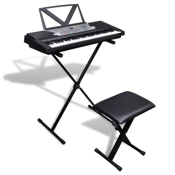 Keyboard met 54 toetsen + verstelbare keyboardstandaard en kruk