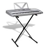 vidaXL Elektrisch keyboard 61 toetsen met muziek- en keyboardstandaard
