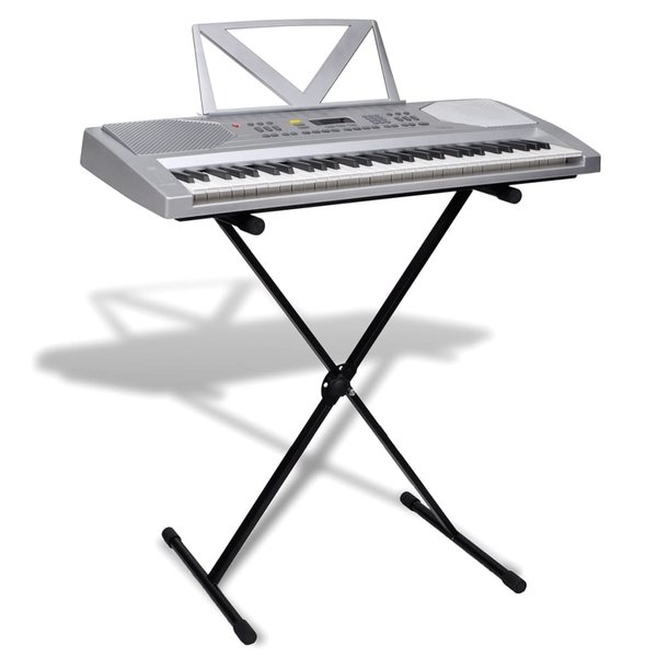Elektrisch keyboard 61 toetsen met muziek- en keyboardstandaard