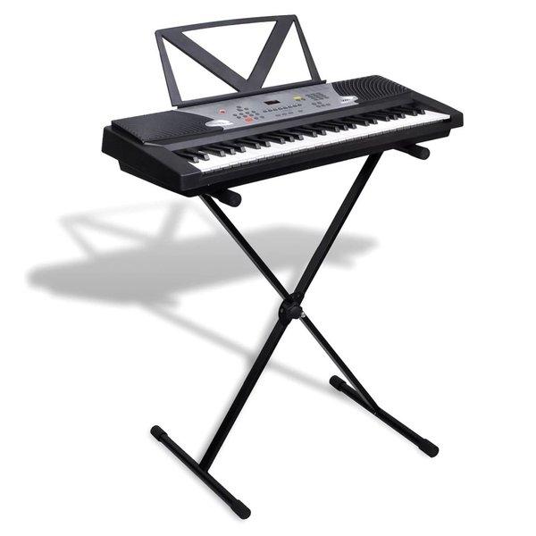 Keyboard 54 toetsen met muziekstandaard en keyboardstandaard