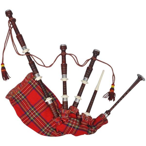 Great Highland Doedelzak Royal Steward Tartan rood