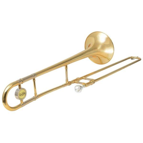 Trombone messing met goudlak Bb