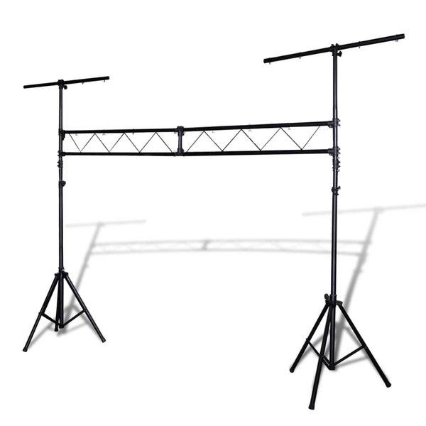 Lichtsysteem met truss en 2 statieven verplaatsbaar 3 m