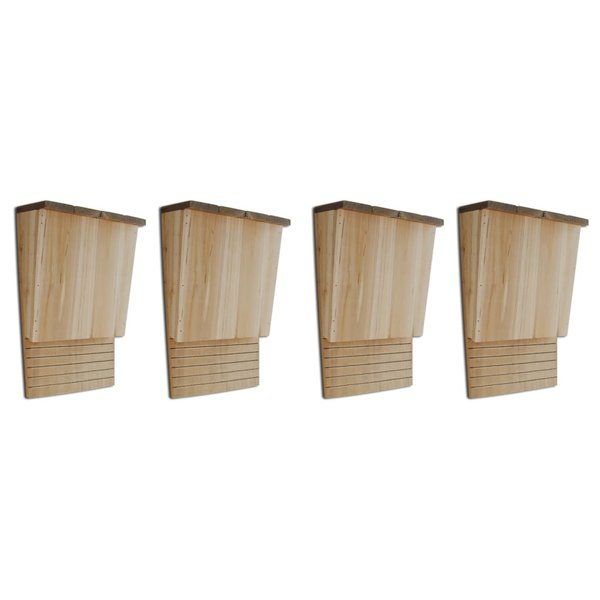 Vleermuizenkasten 4 st 22x12x34 cm hout