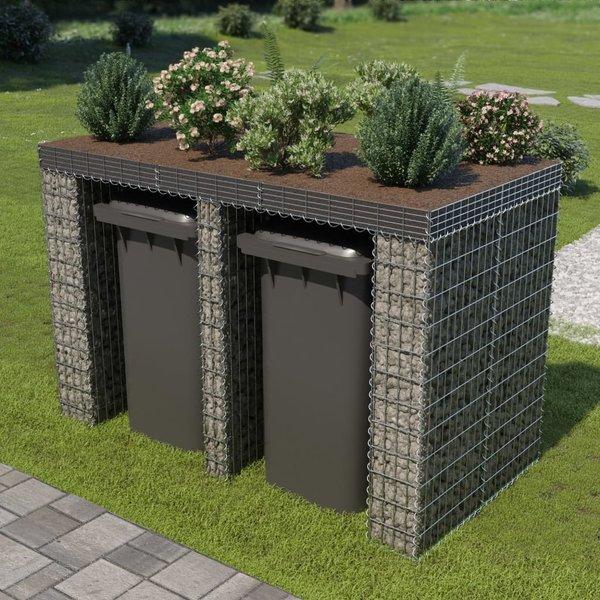 Schanskorf muur container 190x100x130 cm gegalvaniseerd staal
