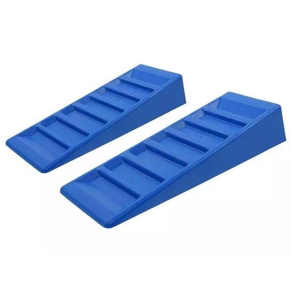 oprijblokken 75 mm blauw 2 stuks