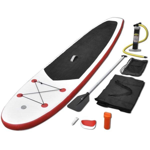 Stand-up paddleboard opblaasbaar rood en wit