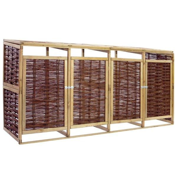 Containerberging viervoudig grenenhout en riet