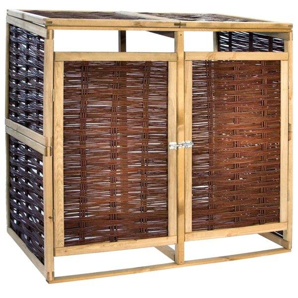 Containerberging dubbel grenenhout en riet