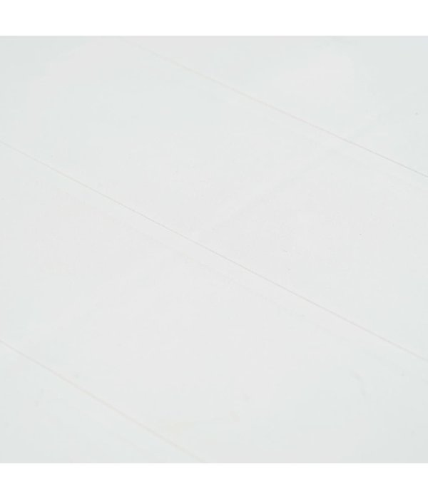 vidaXL Tuintafel 150x90x72 cm rattan-look kunststof wit