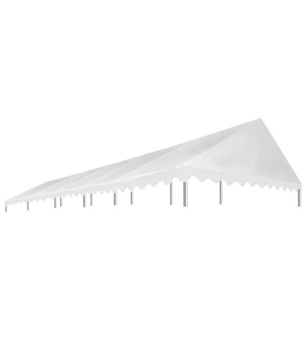 vidaXL Partytentdak 450 g/m² 5x10 m wit