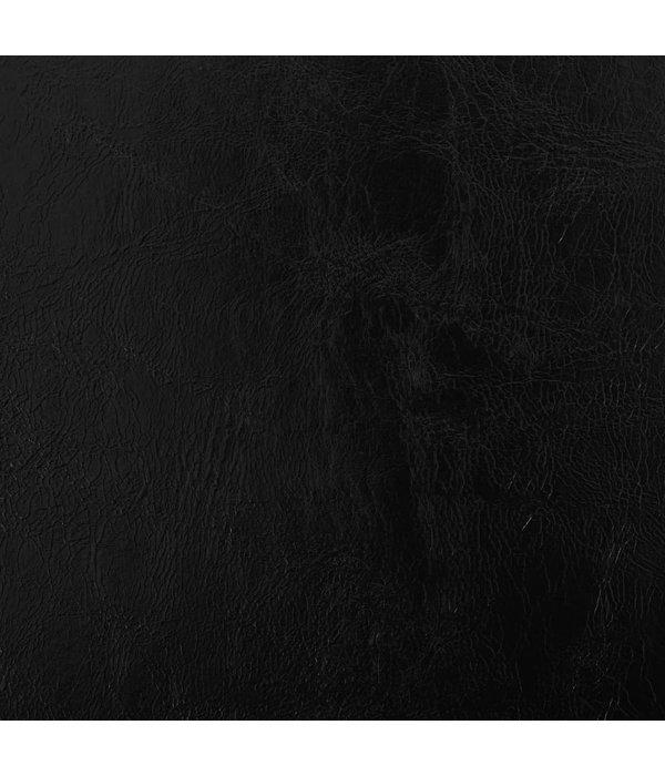 vidaXL Eetkamerstoelen 4 st draaiend kunstleer zwart