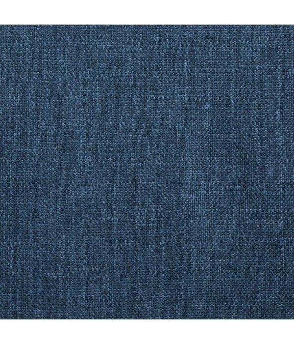 vidaXL Eetkamerstoelen 6 st draaiend stof blauw